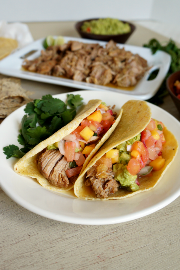 Slow Cooked Carnitas Tacos - The Baking Fairy