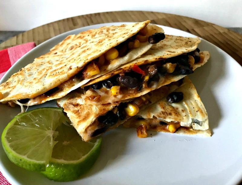 Black Bean and Roasted Corn Quesadillas