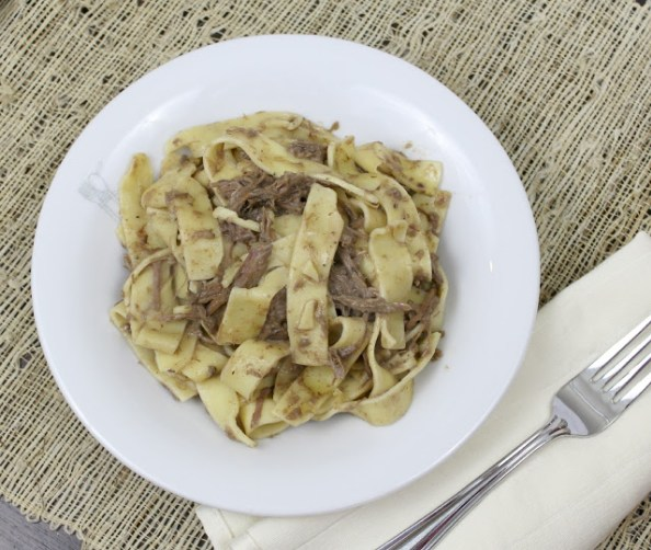 Slow Cooked Beef and Gravy with Noodles
