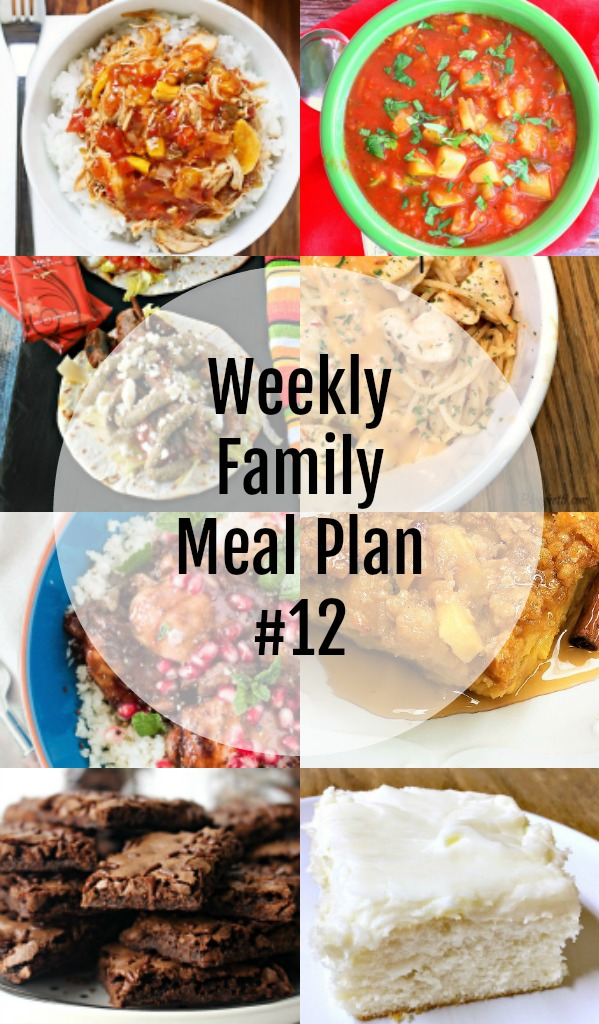 Weekly Family Meal Plan #12