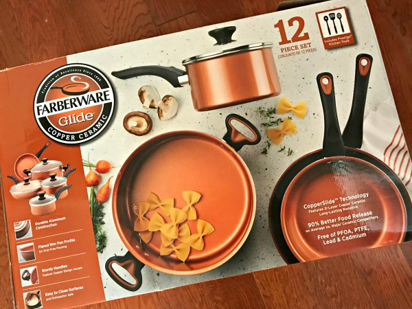 Farberware Glide Copper Ceramic set
