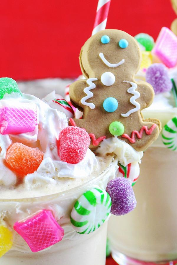 Gingerbread-House-Milkshakes-Recipe from Home Cooking Memories
