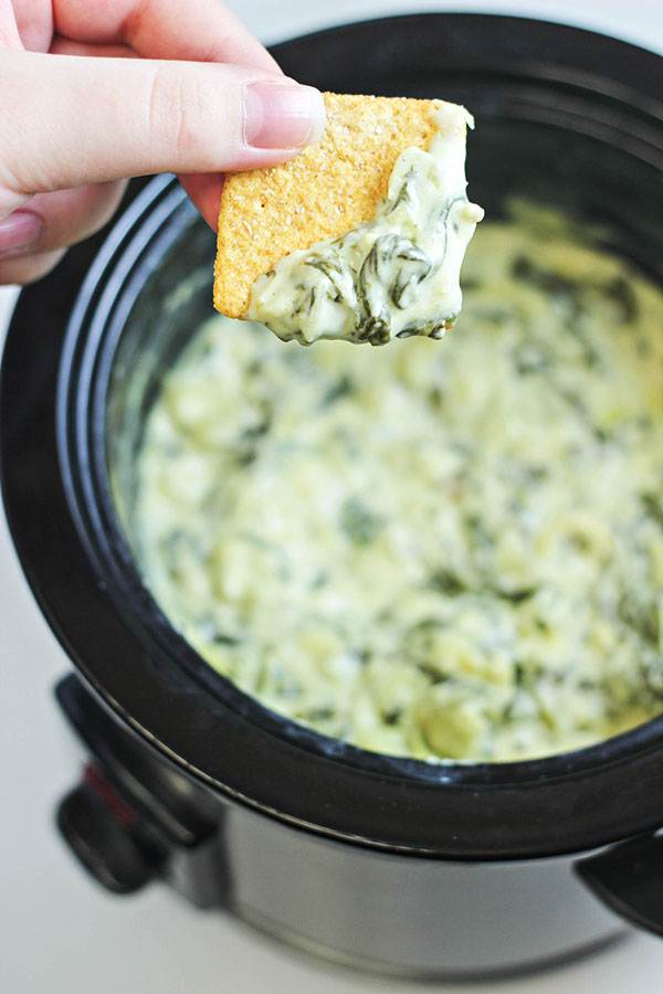 Slow-Cooker-Spinach-and-Artichoke-Dip- from Home Cooking Memories