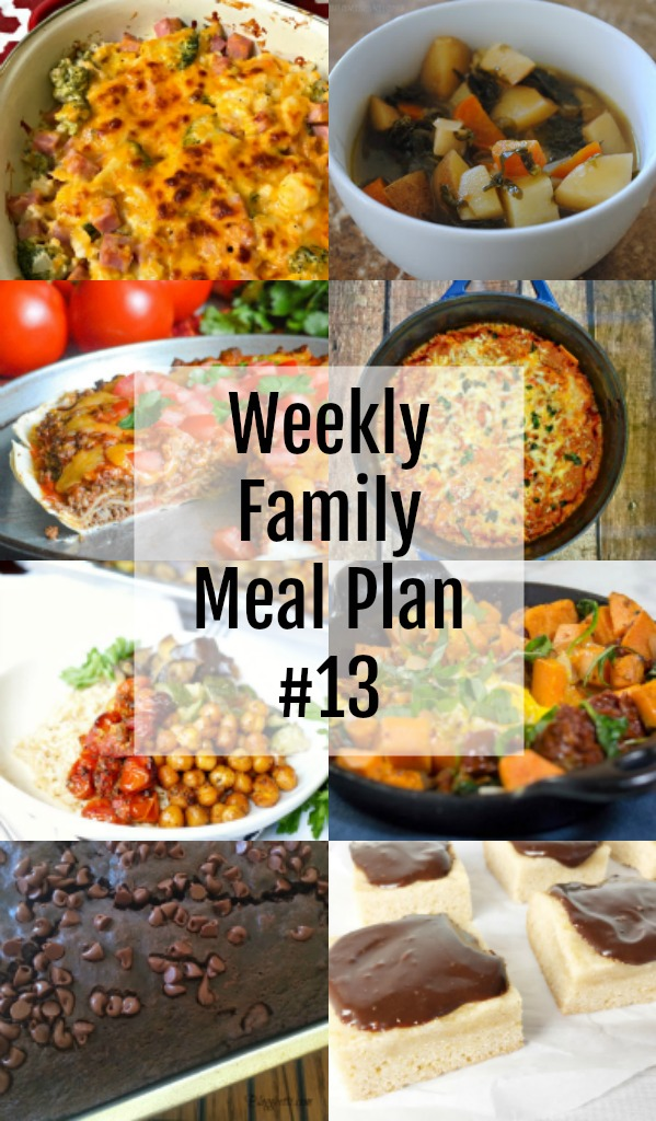 Weekly Family Meal Plan #13