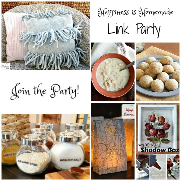 It's time for Happiness is Homemade Link Party and we're so glad you're joining us! We've got the best recipes, DIY projects, crafts, home decor ideas, and so much more.