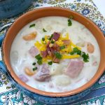 Slow Cooker Creamy Potato and Ham Soup