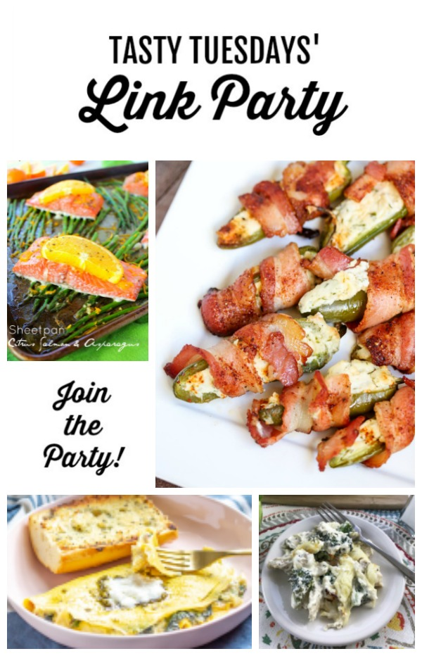 Welcome to this week's Tasty Tuesdays' Link Party where we are dishing the best recipes.  Each week, food bloggers link up their very best and tasty recipes and we want you to join us! #tastytuesdays #linkparty