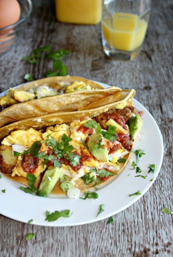 Texas-Breakfast-Tacos from Simple and Savory