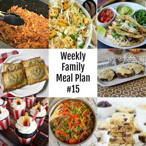 Weekly Family Meal Plan #15 #mealplan #menu #dinner