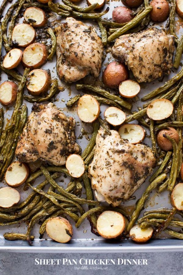 Sheet Pan Chicken Dinner - The Little Kitchen