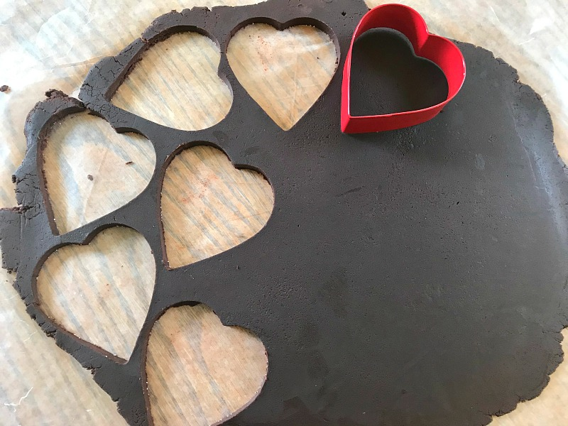 If you love chocolate and sprinkles, then you will love these Sprinkled Chocolate Shortbread Heart Cookies. Perfect for Valentine's Day cookie trays. #cookies #chocolate #shortbread #ValentinesDay