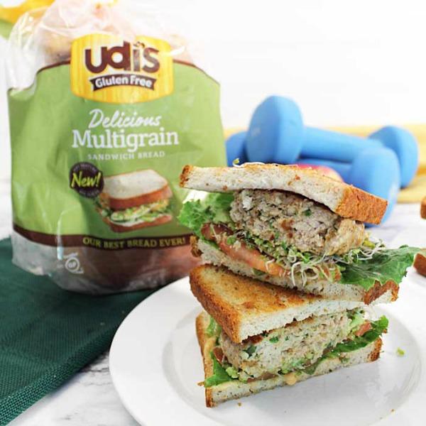 Chicken burger on multigrain bread