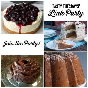 collage of Tasty Tuesdays' Link Party features