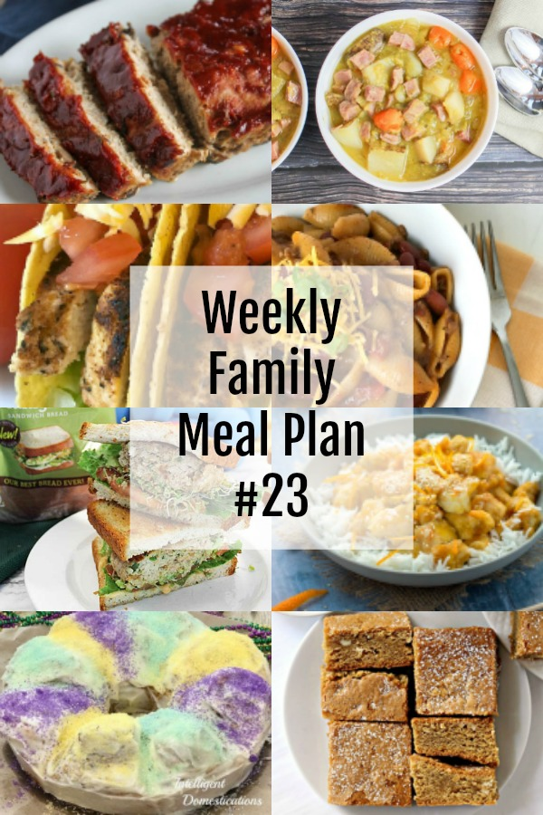 collage of foods for weekly menu