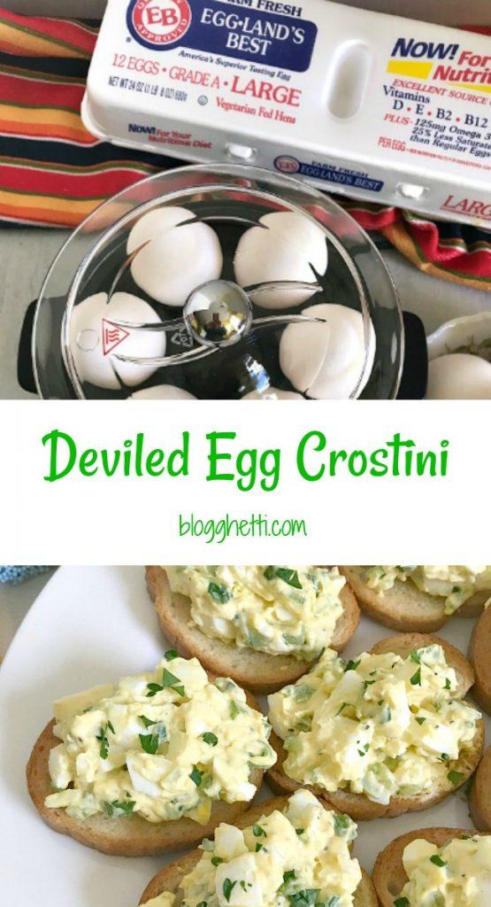 Deviled Egg Crostini pin
