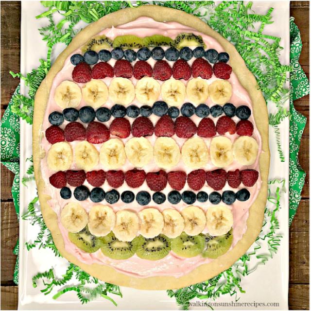 Easter-Egg-Fruit-Pizza-on-white-platter-