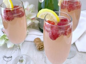 Raspberry Lemon Mimosas - feature