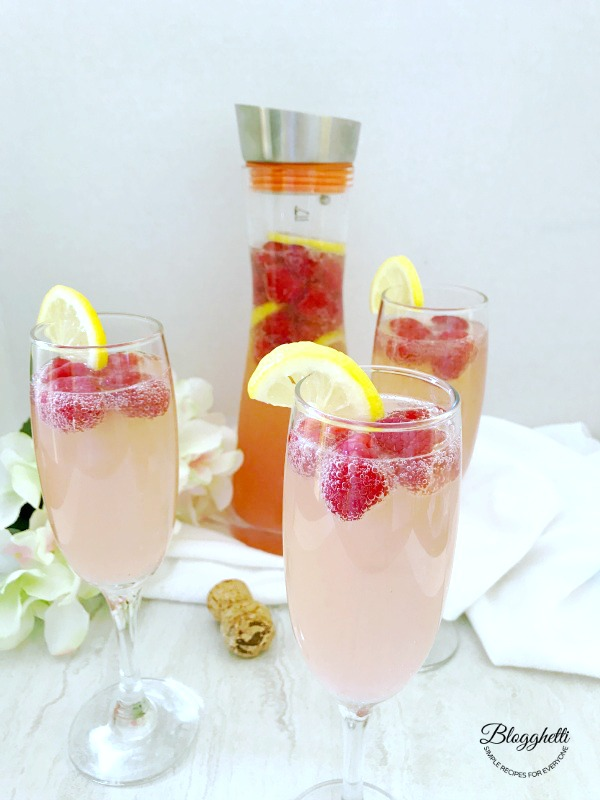 Raspberry Lemon Mimosas - with Grosche
