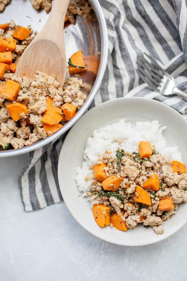gound turkey sweet potato skillet
