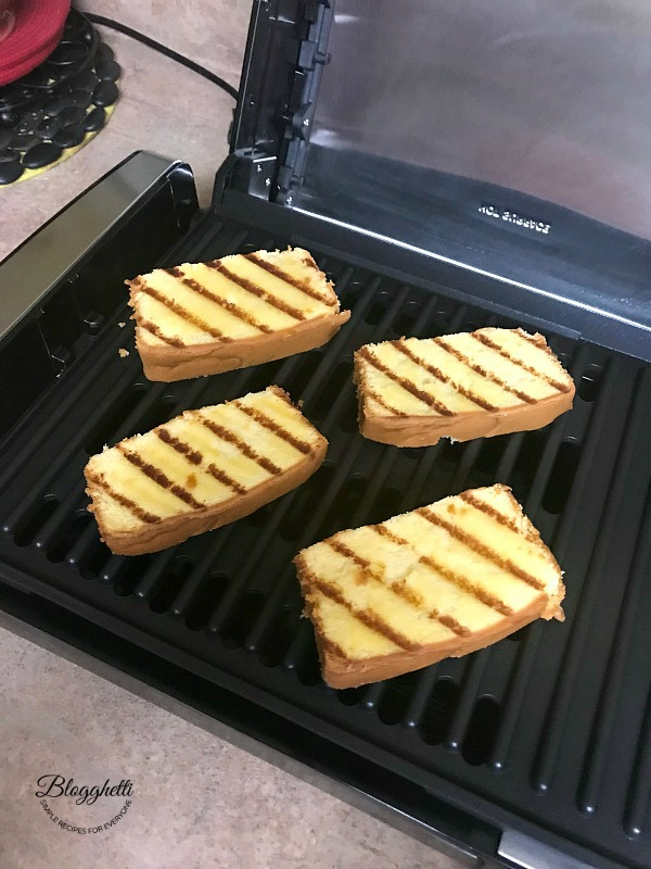 Grilled Pound Cake on Indoor Grill