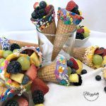 Candy Dipped Fruit Cones - feature