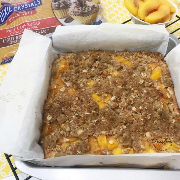Easy Peach Streusel Crumb Bars