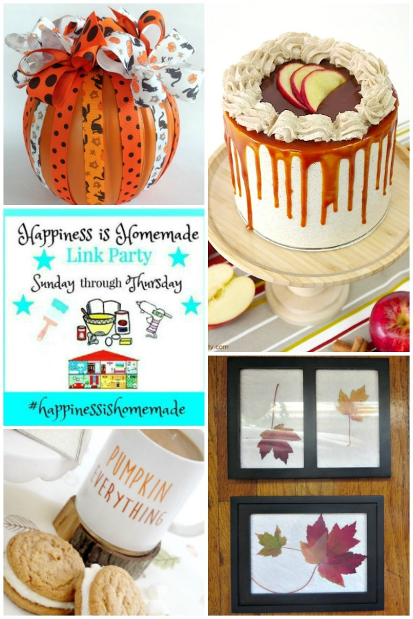 collage of features for this weeks Happiness is Homemade Link Party