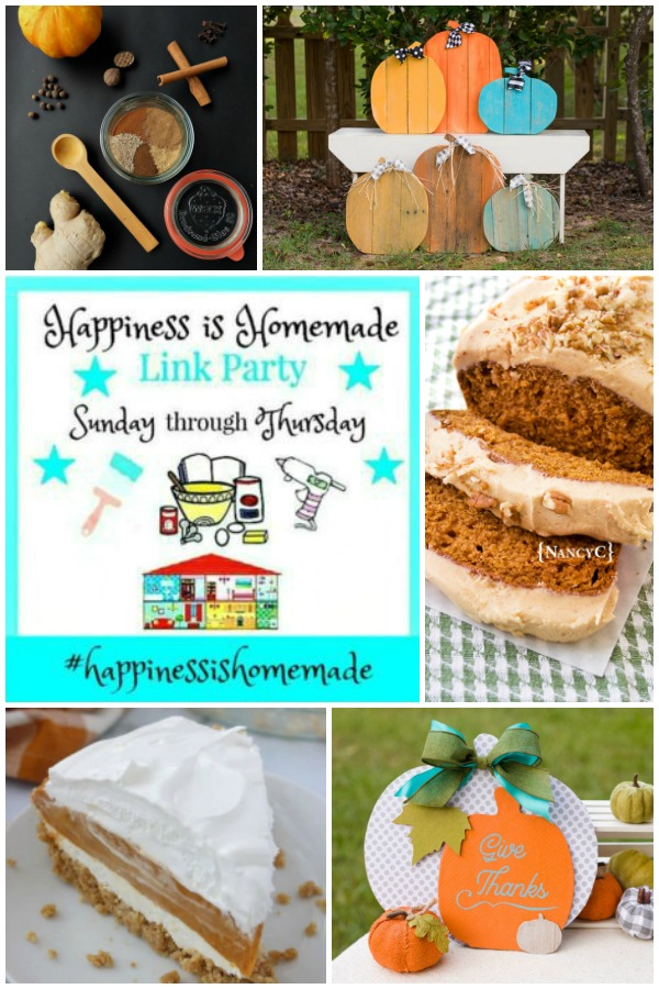 Happiness is Homemade Link Party Features Collage for September 29