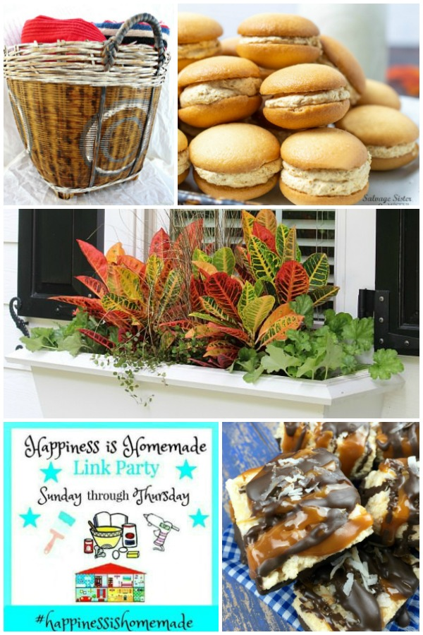 Happiness is Homemade Link Party Features Collage for September 8